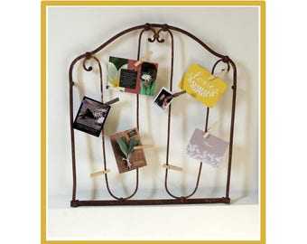 Iron picture frames.