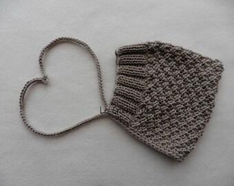 MERINO baby bonnet / sand beige cotton