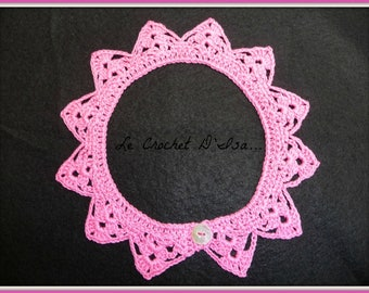 BABY CROCHET LACE COLLAR / CROCHETED PETER PAN COLLAR