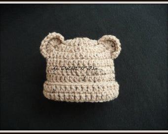BEANIE BABY BEAR CROCHET BABY PHOTOS