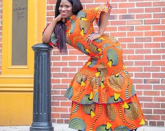 0dd8cf7433 African Clothing For Women Orange