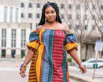 d485660e9a African Off Shoulder Dress