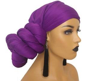 14be3e9b95cb4 Purple Head Wraps For Women