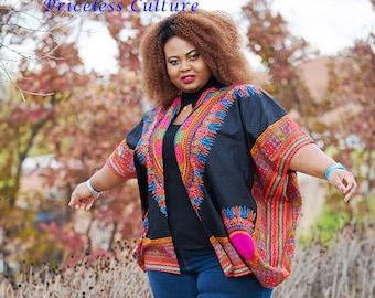 Dashiki Kimono African Kimono Ankara Poncho Plus Size African Cardigan Hawaiian Kimono Oversize African Kimono Angelina Kimono Ankara Poncho