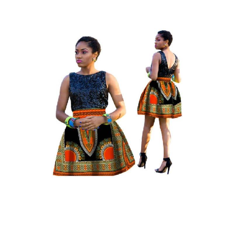 ef659a8035f Black Skirt Black Dashiki Skirt Dashiki Dress Ankara Dashiki
