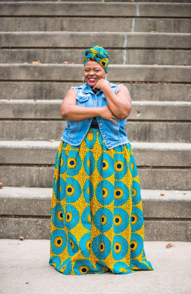 194ca82d8e Plus Size African Clothing For Women Ankara Maxi Skirt Plus | Etsy
