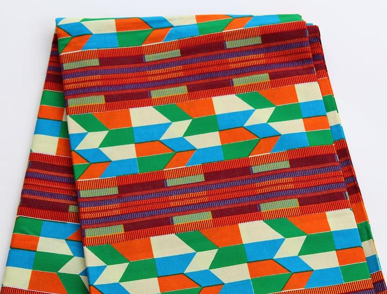 Kente Fabric Fabric 3 panel 6 Yards Ready to SHIP Kitenge dress African clothing For Women Ankara Wholesale