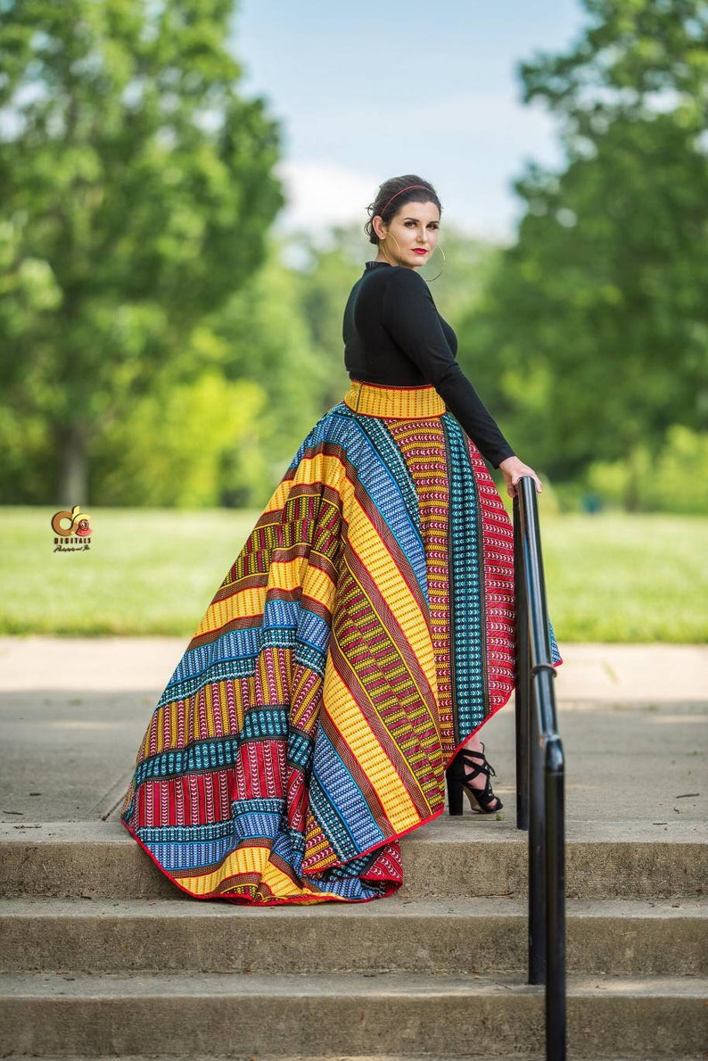 2b27d7dfb0b African High Low Skirt, African Skirt For Women, African Clothing For Women  Plus Size, African Prom Skirt, Ankara Maxi Skirt, Ankara Dress