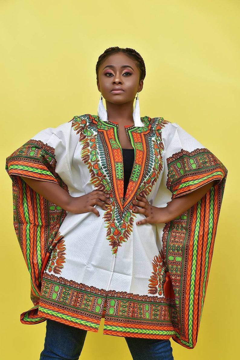 4d6823240f5 Oversized Dashiki Kimono Ankara Kimono African Clothing For