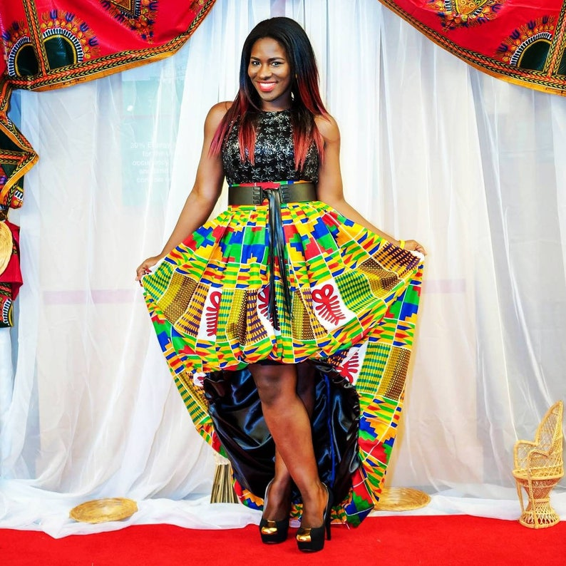 b0a6844db0f Kente High Low Bubble Skirt African Print Skirt Plus Size Skirt Ankara  Clothing For Women Kwanzaa Clothing Afrocentric Skirt Kwanzaa Dress