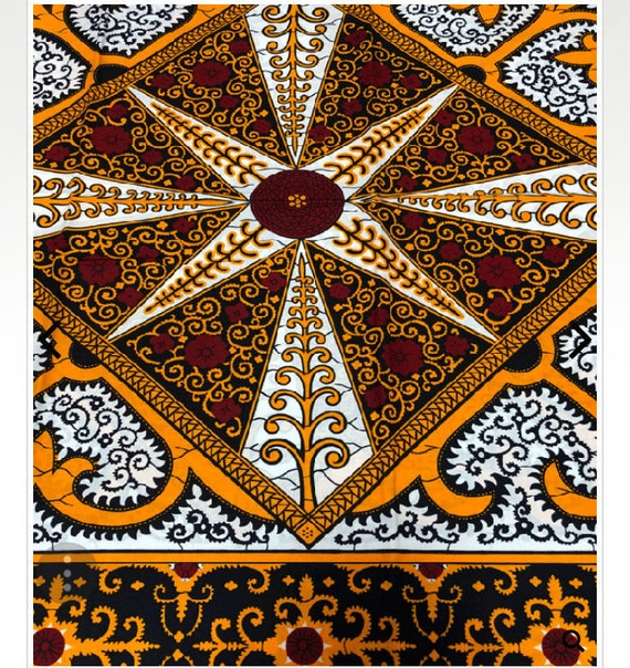 White And Red African Fabric Ankara Fabric African Print Etsy