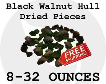 Dried BLACK WALNUT HULLS - For Ink & Dye Making - Wild Picked Natural Crushed Pieces - Free Shipping!