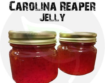 Carolina Reaper Hot Pepper Jelly - Organically Grown Ingredients - Homemade Small Batch - VERY HOT! - Free Shipping!!