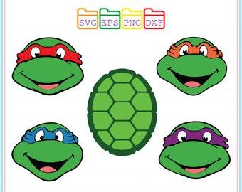Teenage Mutant Ninja Turtles, Svg Dxf Png Eps,Cutting File,Studio Cut Files,Silhouette Studio,Cutting Machines,Cricut Cameo,Instant Download
