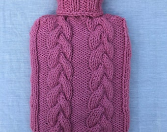 Available In Cream /& Purple Cream Ladies Deluxe Fur Hot Water Bottle For Bedroom Living Room Office