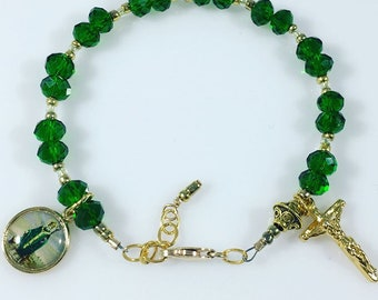 St. Patrick Rosary Bracelet