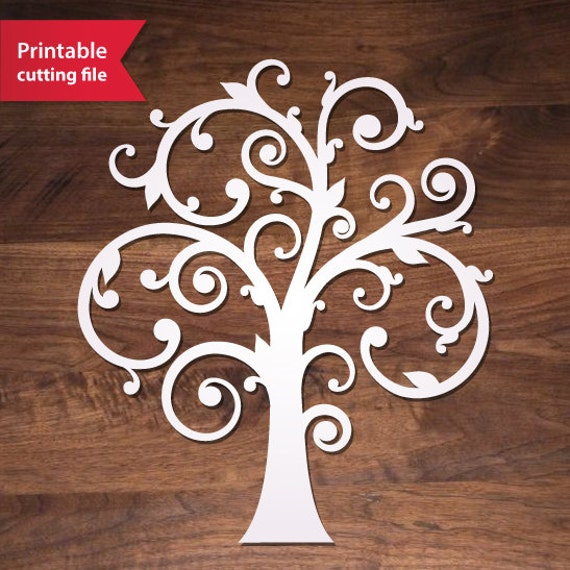 Laser Cut Tree SVG File Family Tree Vector For Silhouette