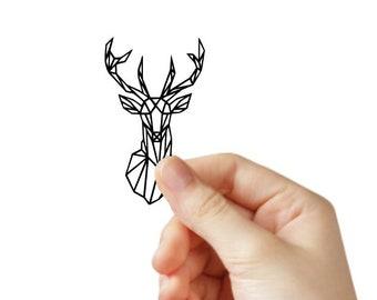 iPad Animal Nature Wild Wander iPad Decal Stag Origami Stag Geometric Head iPad Sticker Hunter Gift