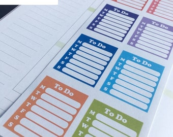 S-059 -To Buy Checklist,Note Checklist Boxes, Create to-do Lists, Note: Planner Stickers Erin Condren, Limelife,Plum Paper, Filofax Planners