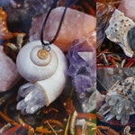 Shell Necklace - Mermaid Necklace - Crystal Jewelry