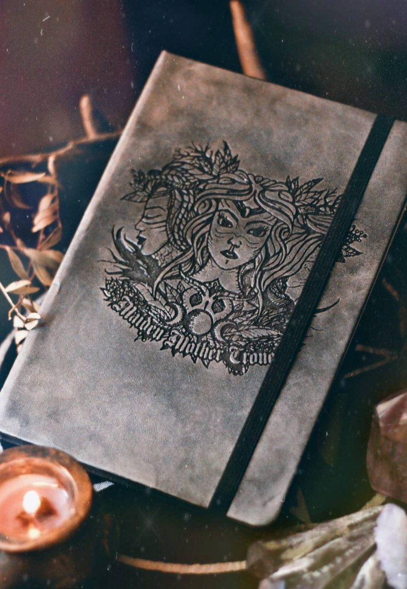 Diary  Book of Shadows  Witchy  Maiden Mother Crone image 0