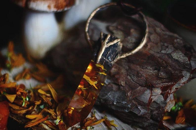 Fluorite Rune Necklace  Algiz  Vikings  Crystal  Pagan image 0