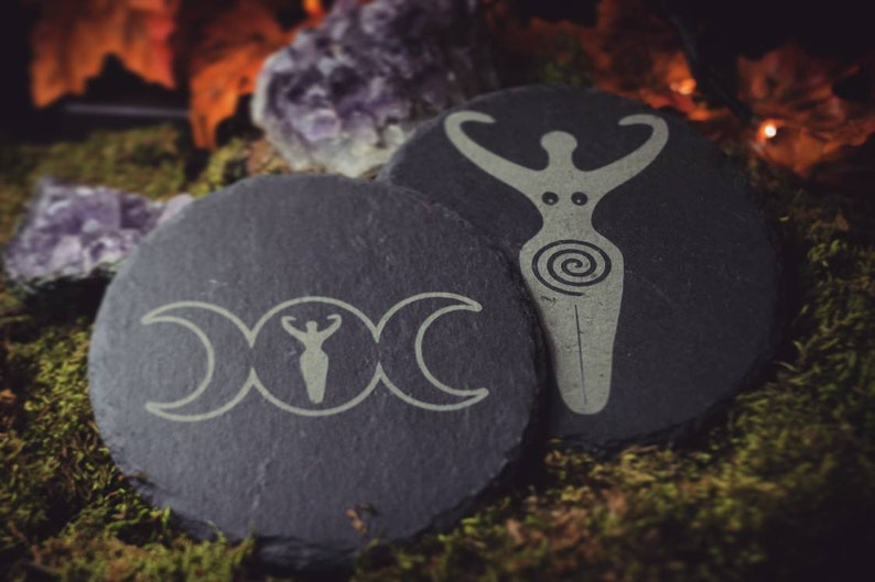 Altar Tiles  Triple Moon  Goddess  Wicca  Witch Tiles image 0