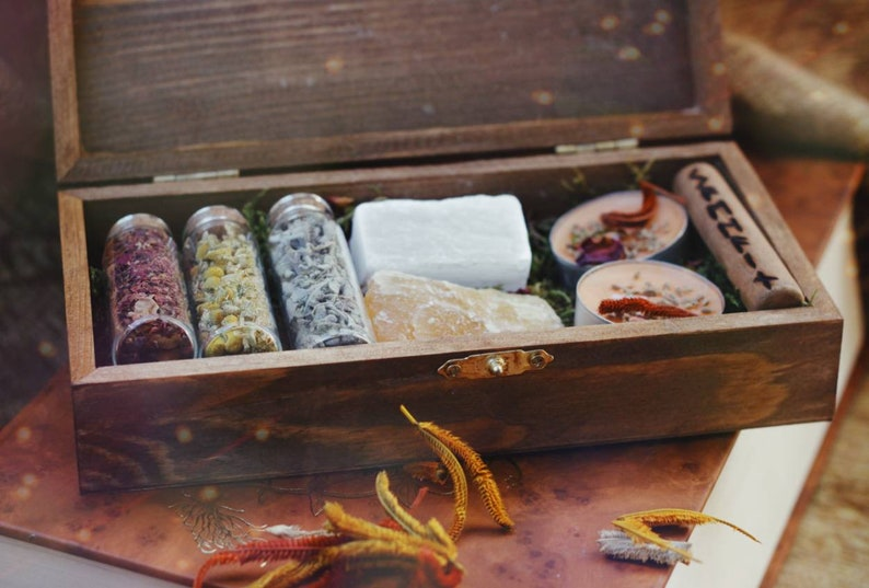 Samhain Hex Box  Witch Box  Crystals and Herbs  Ritual Kit image 0