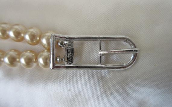 Vintage MARVELLA Faux Pearl 2 strand Necklace wit… - image 2
