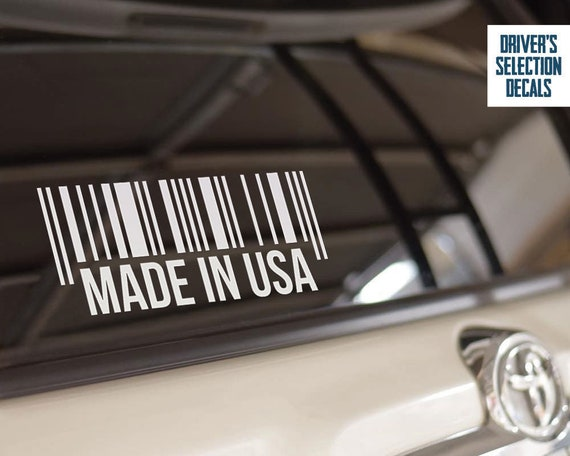 Made In Usa Car Window Sticker Euro Style Jdm Dub Decal Etsy