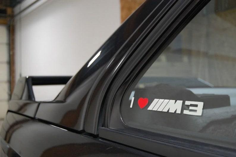 I Love BMW M3 window sticker decals graphic