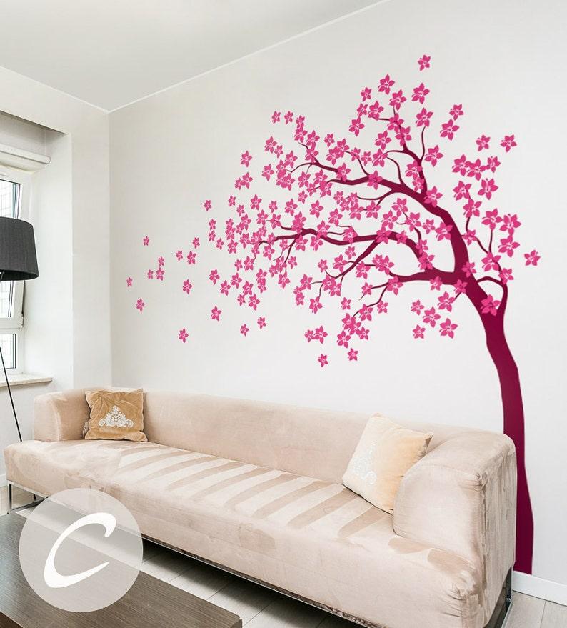 Wandtattoo Wand am036 Tapete Aufkleber Blühende Großer Weiße Baum ...