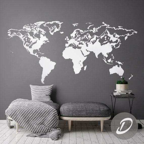 carte du monde sticker mural carte sticker monde carte. Black Bedroom Furniture Sets. Home Design Ideas