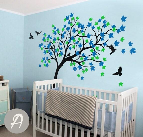 Ahorn Baum Wandtattoo Kinderzimmer Wand Aufkleber Wandtattoo Etsy