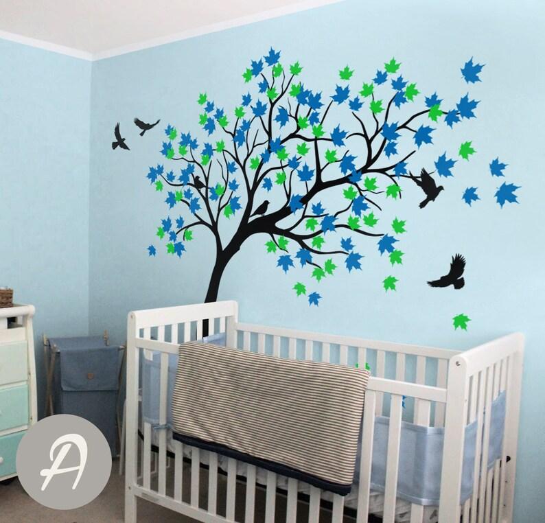 Ahorn Baum Wandtattoo Kinderzimmer Wand Aufkleber Wandtattoo für Kinder  Kinderzimmer Wand Aufkleber Vögel und Baum Wandtattoo Aufkleber bunten Baum  ...