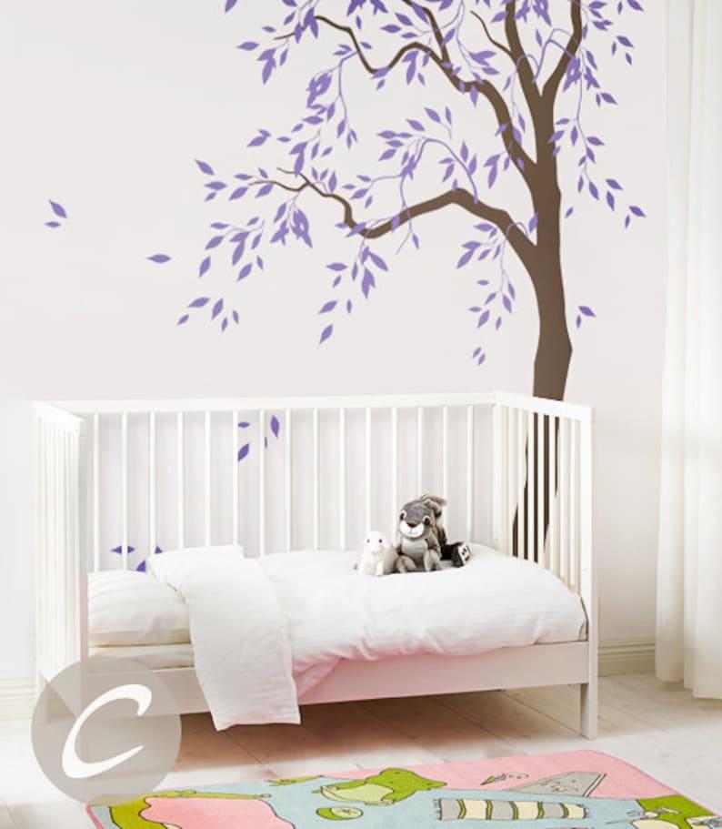 . Tree decal Large nursery tree vinyl wall art Wall Mural sticker Kids room  decor Nature Tree wall tattoo AM041