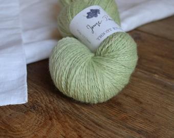 Jeune Pousse - Echeveau de laine mérinos biologique teinture végétale
