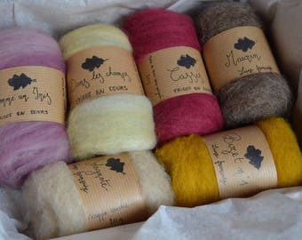 Coffret Assortiment de Mèches de laine