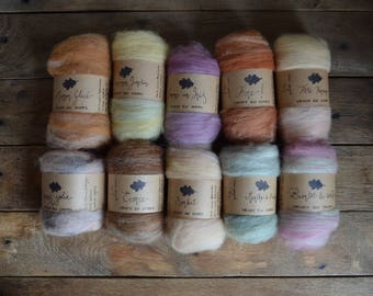 Worsted wool roving - Les blends