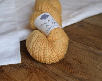 Dans les rues de Madras - Echeveau de laine mérinos biologique teinture végétale