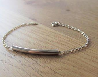 925 sterling silver tube bracelet