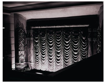 Cinema Curtains,  Theatre, Black and White, Newcastle
