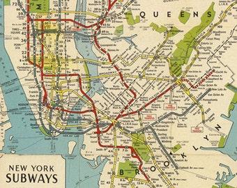 New york subway map | Etsy Printable Nyc Subway Map on