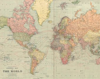 Old world map etsy world map printable digital download 1922 vintage world map old world map art image instant digital downloadintable mapp digital gumiabroncs Gallery