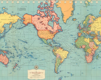 World Mapprintable Digital DownloadOld World MapInstant Etsy - World map print out