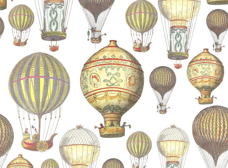 Vintage Hot Air Balloons Printable. Hot Air Balloon