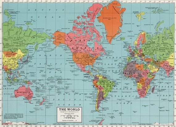 World map printable digital downloadntage world map map world map printable digital downloadntage world map map high resolution vintage map instant digital downloadintable pastel map de gumiabroncs