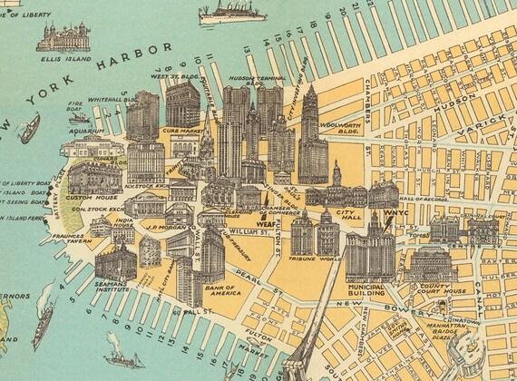 New York Digital Map Antique New York Printable Map New York Etsy