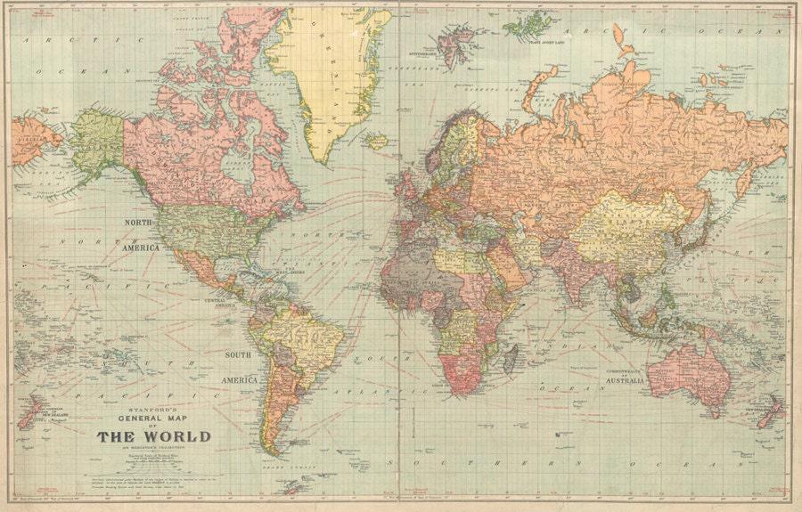 Vintage Map Of World.World Map Digital Print Antique World Map Printable Etsy