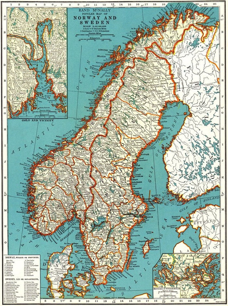 image about Scandinavia Map Printable called Common Sweden, Norway and Denmark map electronic-Scandinavia Map printable. Antique Map -Scandinavian Print. Aged Printable map